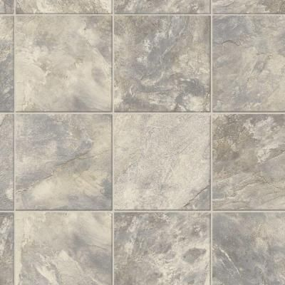 Trafficmaster Neutral Square Slate 12 Ft Wide Vinyl Sheet U6910 284c997g144 The Home Depot Vinyl Sheet Flooring Vinyl Flooring Flooring