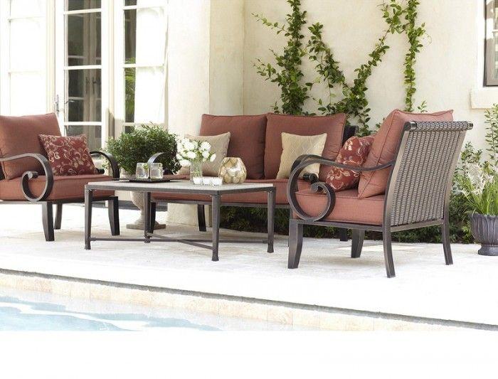 Loweu0027s Allen + Roth Sunbrella Xena Brick Deep Seat Patio Chair Cushion