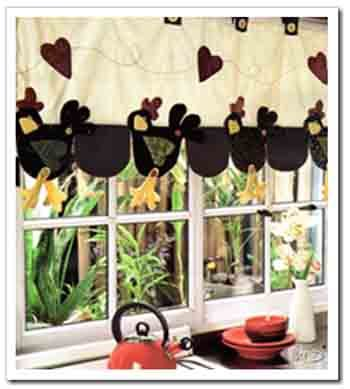Cortina para cocina estilo country cortinas pinterest for Tazas de bano modernas