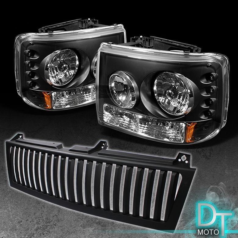 Bk 99 02 Silverado 00 06 Tahoe Suburban Range Rover Style 2in1 Headlight Grill With Images Chevy Silverado Silverado Chevy