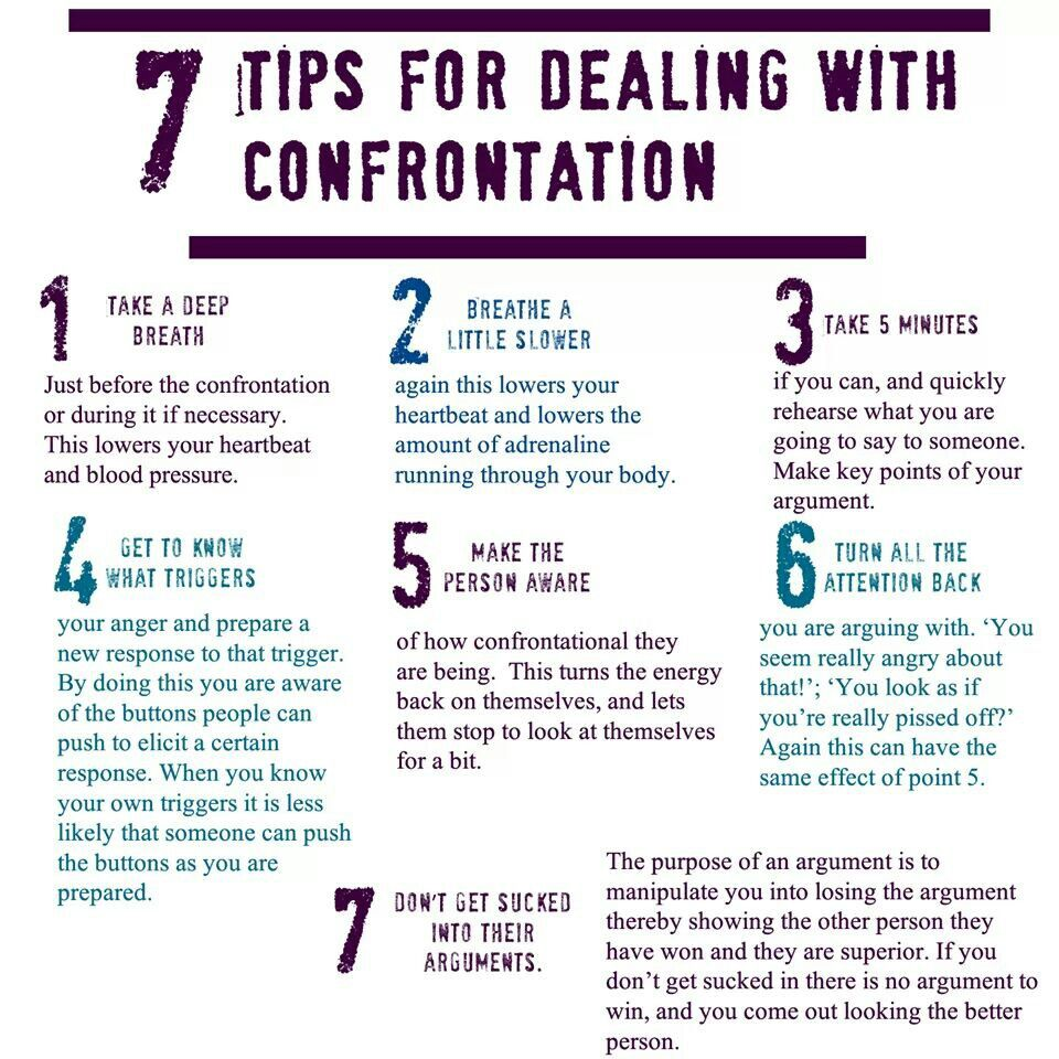 7 tips for dealing with confrontation (Building confidence
