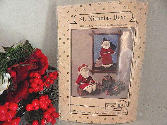 St. Nicholas Bear Christmas Craft Pattern Santa by TKSPRINGTHINGS ...