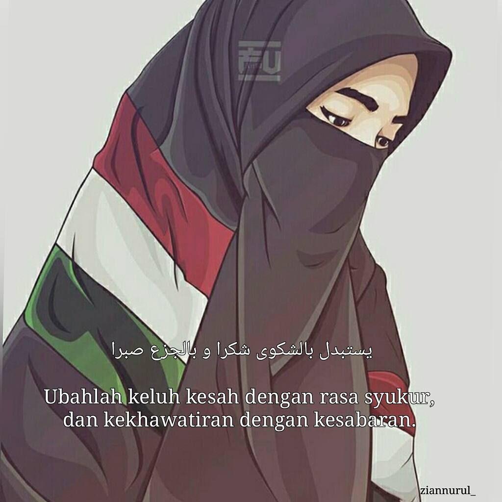 Gambar Kartun Muslimah Palestina Akhwat Hijab Pinterest