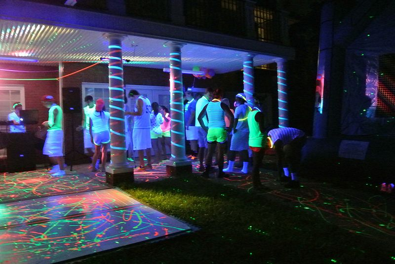 How To Throw A Blacklight Party With Images Blacklight Party