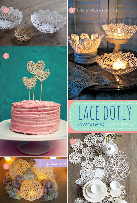 Lace Doilies For Wedding Decorations That Are Vintage And Shabby Chic Lacedoilies Lacesoily