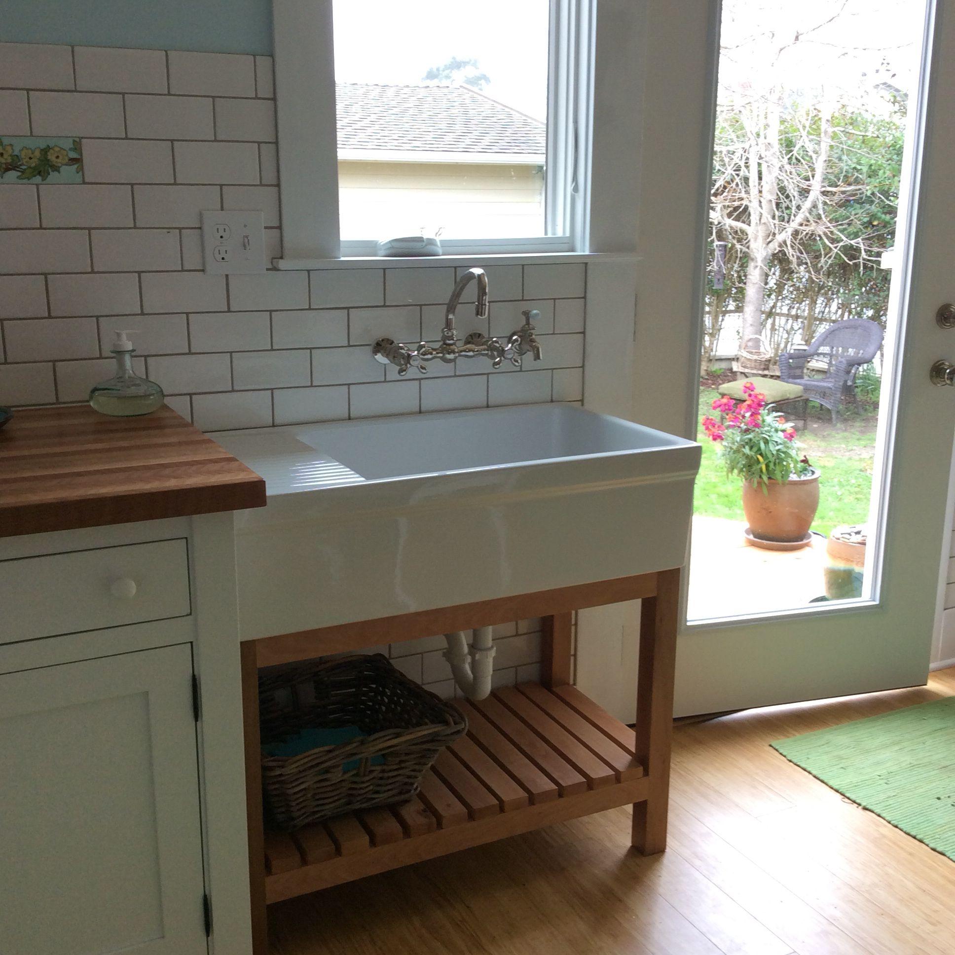 The Kitchen Sink In My Freestanding Unfitted Kitchen A Whitehaus