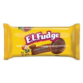 Mini Cookie Snack Pack, 3.4 Oz, Chocolate Cookie W/fudge Cream, 8/pk, 8 Pk/box