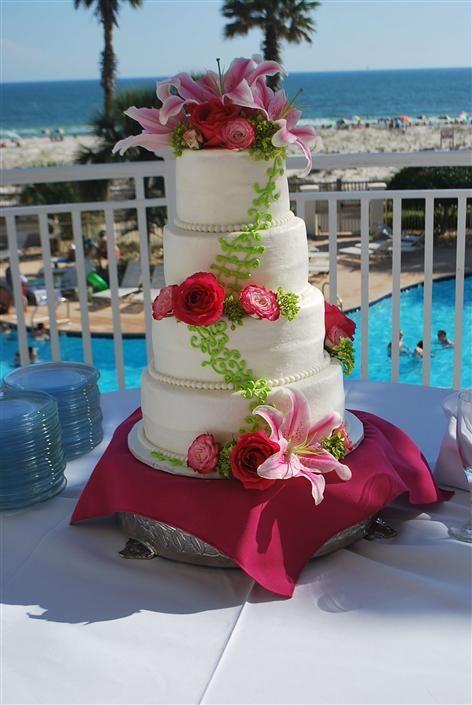 Gourmet Wedding Cakes Gulf Shores Beach Weddings Orange Packages BigDayWeddings