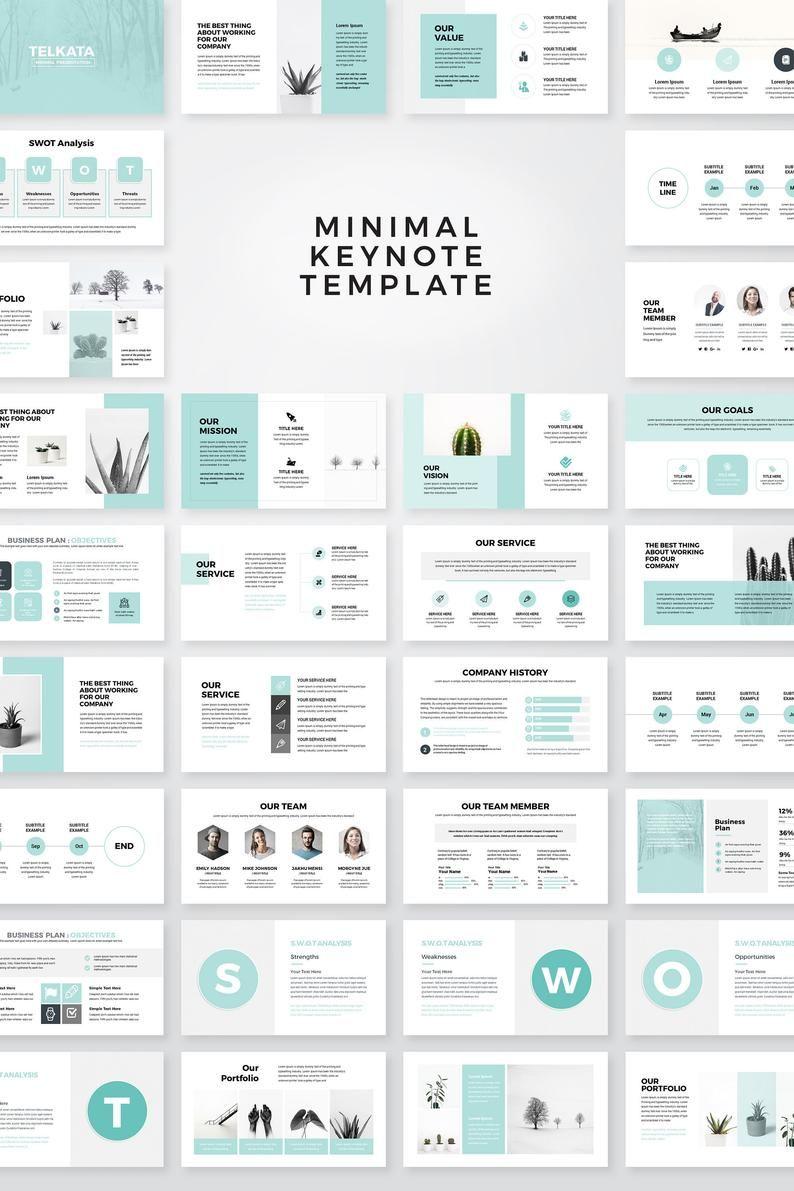 Modern Business Plan Keynote Template Editable Keynote