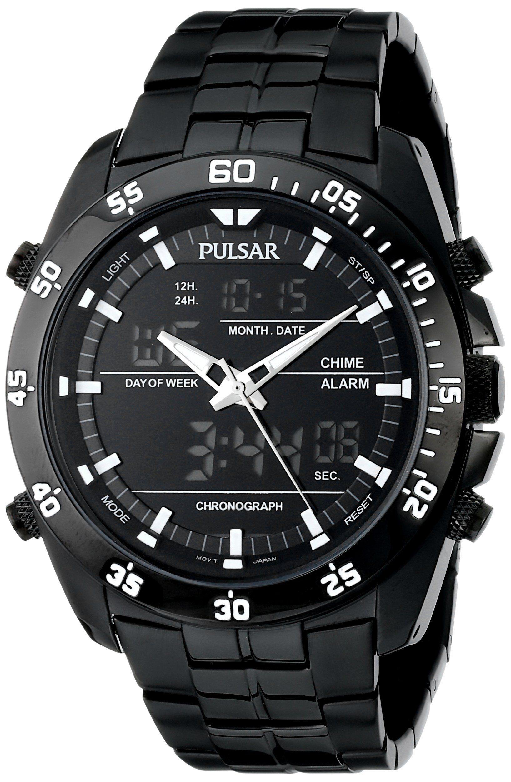 Reloj Pw6011 De Men's WatchRelojes Stainless Steel Pulso Pulsar JclFK1