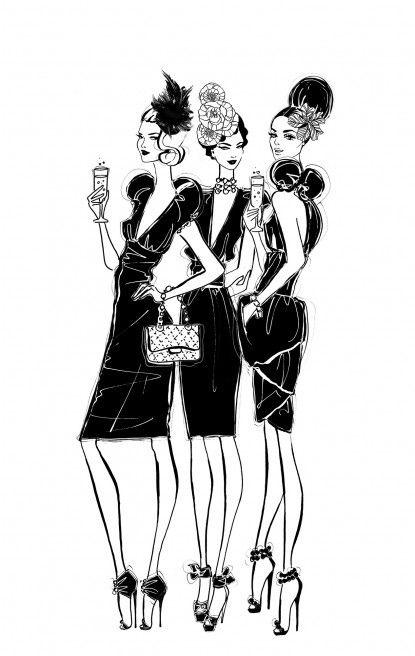fashionality fashion illustrations d reem z xoxoxo via tumblr
