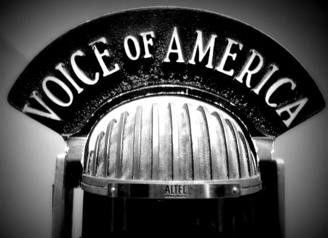 Where were we today? The VOA. | Voice of america, The voice, Radio