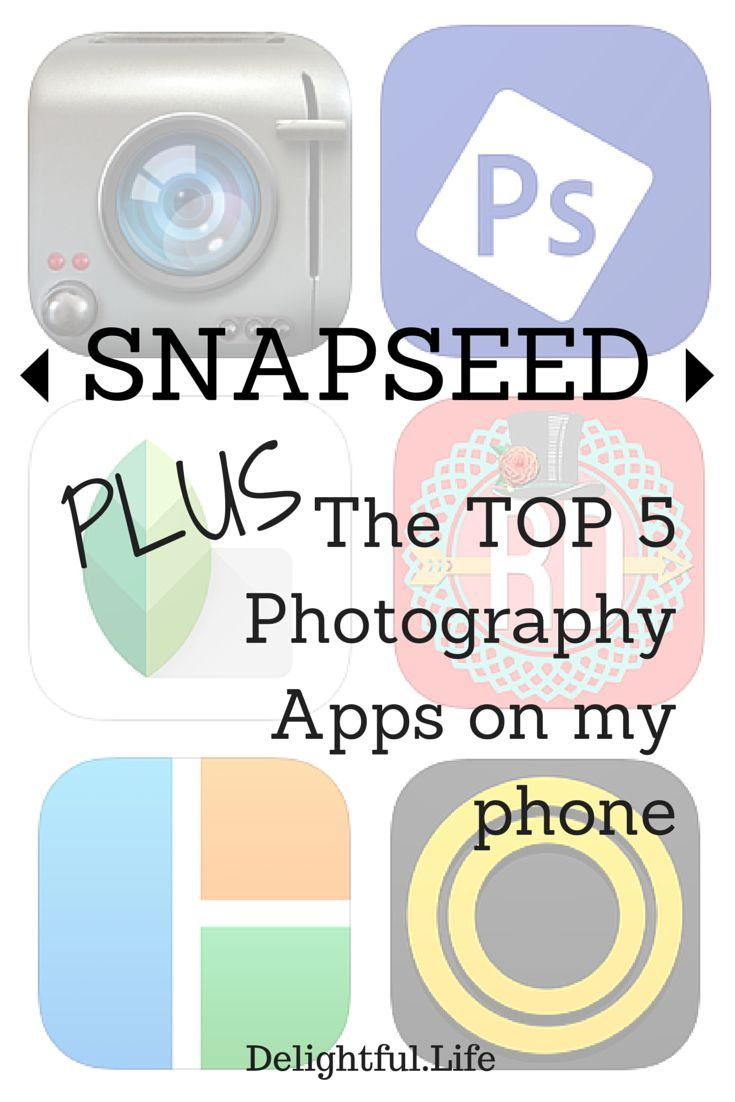Snapseed, plus the Top 5 Photography Apps I have on my iPhone 6