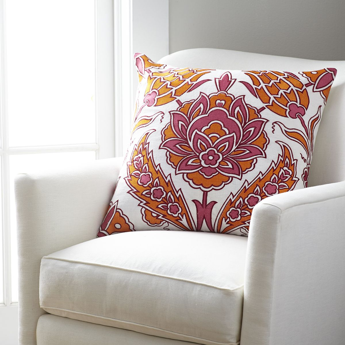 Persimmon iznik pillow cover u tulip products pinterest