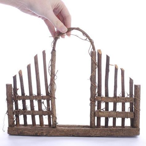 Woodland Twig Garden Fence - Fairy Garden Supplies - Craft Supplies