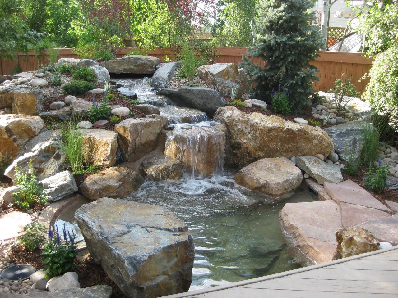 rock garden water feature ideas | garden ideas and garden design - Rock Garden Patio Ideas