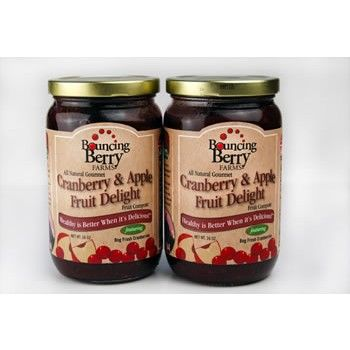 Cranberry Apple Fruit Delight Compote - Superb & delicious all natural cranberry-apple compote, straight from the farm to your table. It is gluten free, dairy free, lactose free, vegan, all natural and low sugar.    Buy at FoodSniffr Deals http://deals.foodsniffr.com/cranberry-apple-fruit-delight-compote-2-jars-of-16oz.html