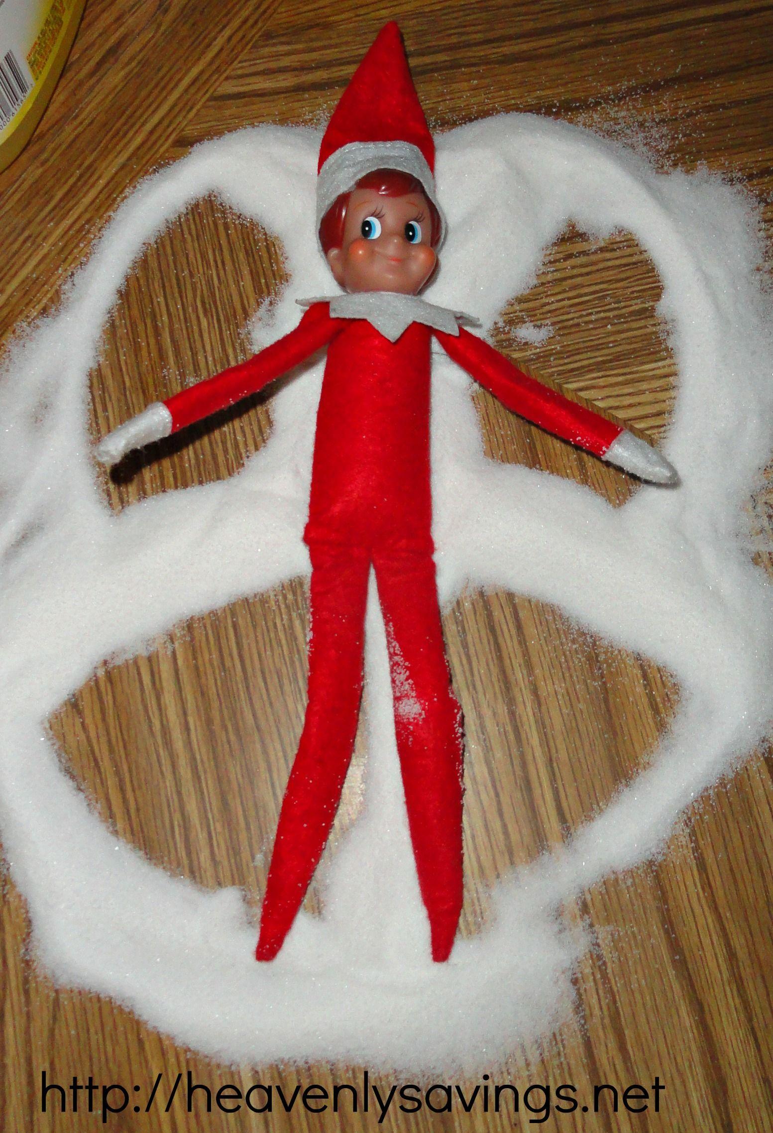 Elf on the Shelf Ideas....Day 1!
