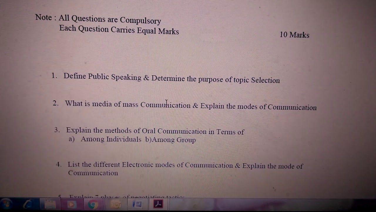 Business communication ISBM exam answer sheets provided
