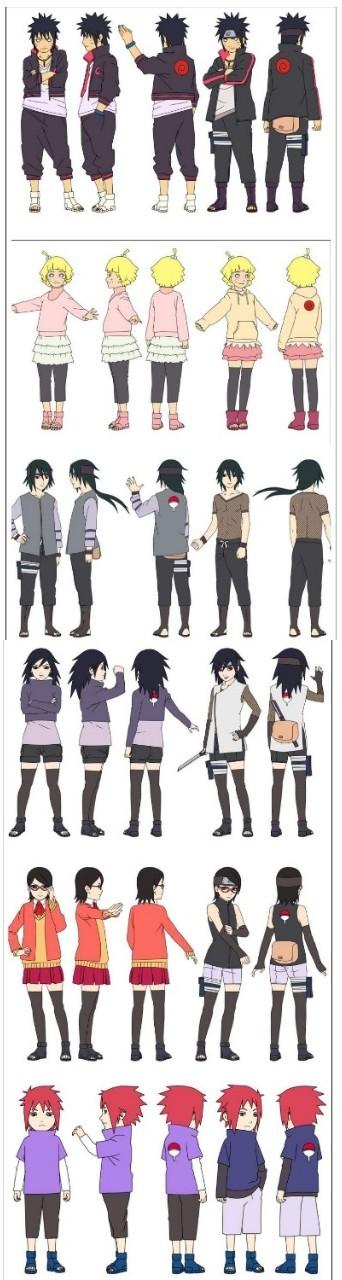 This Is How The New Generation Should Have Looked Like Part1 Naruto Naruto Uzumaki Temnaya Odezhda