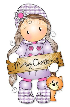 Digital Digi Merry Christmas Chloe  Stamp. Makes by PinkGemDesigns