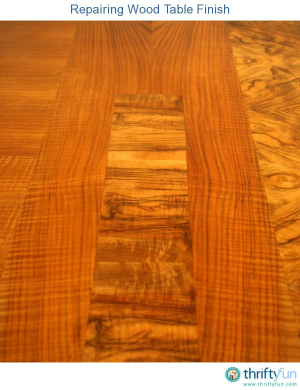 This is a guide about repairing wood table finish  When the lacquer or  vanish coating. Repairing Wood Table Finish   To fix  Tops and There