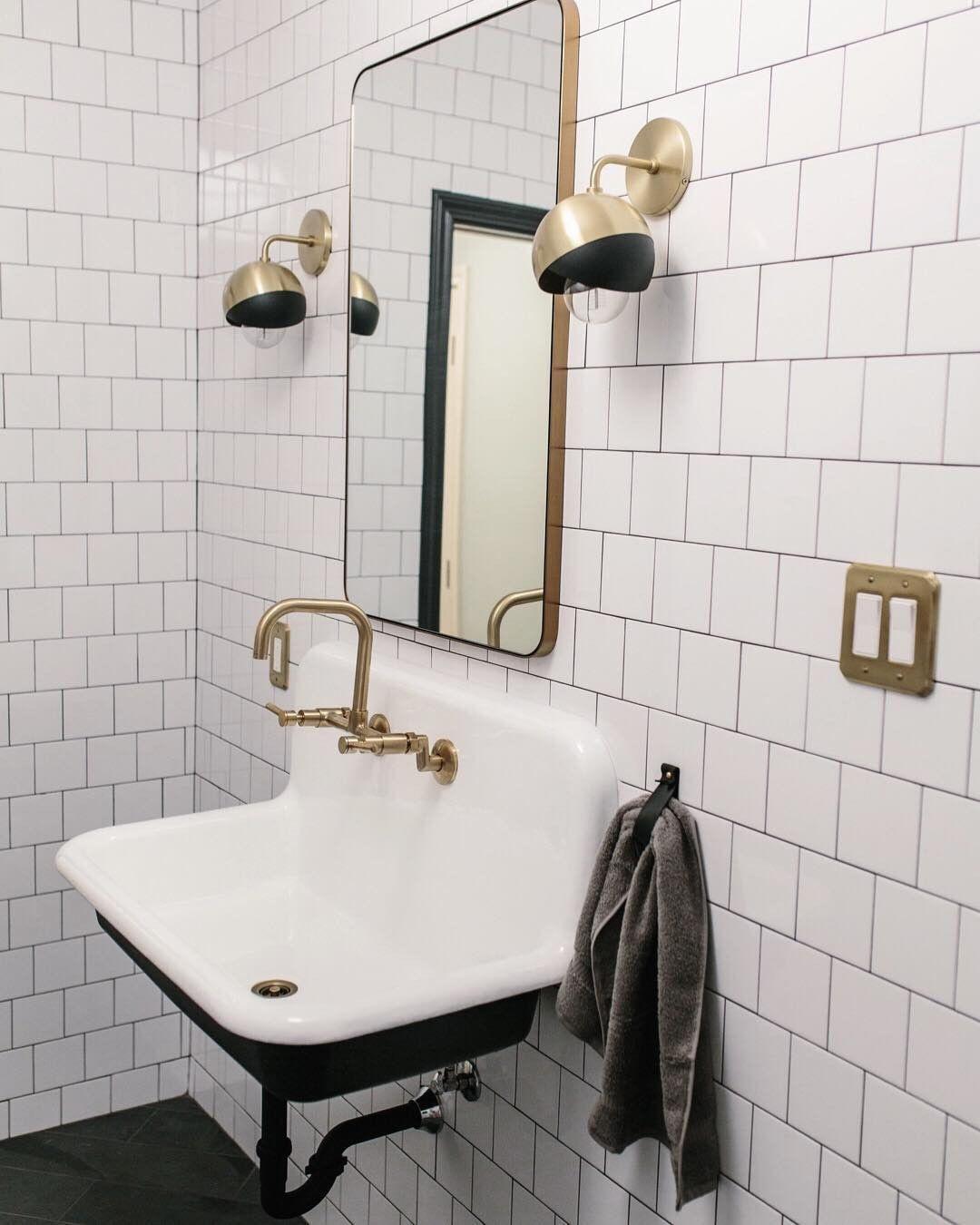 36 Cast Iron High Back Farmhouse Sink Industrial Style Bathroom Bathroom Styling Diy Bathroom