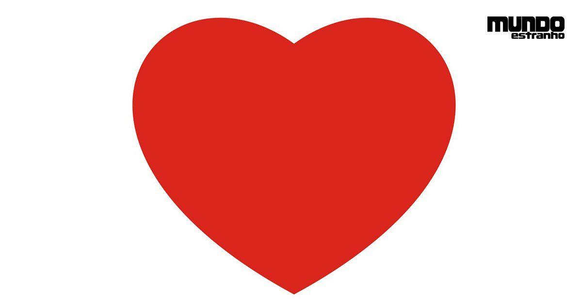 Desenho De Coracao Grande Para Imprimir: Coração Vermelho - Desenho