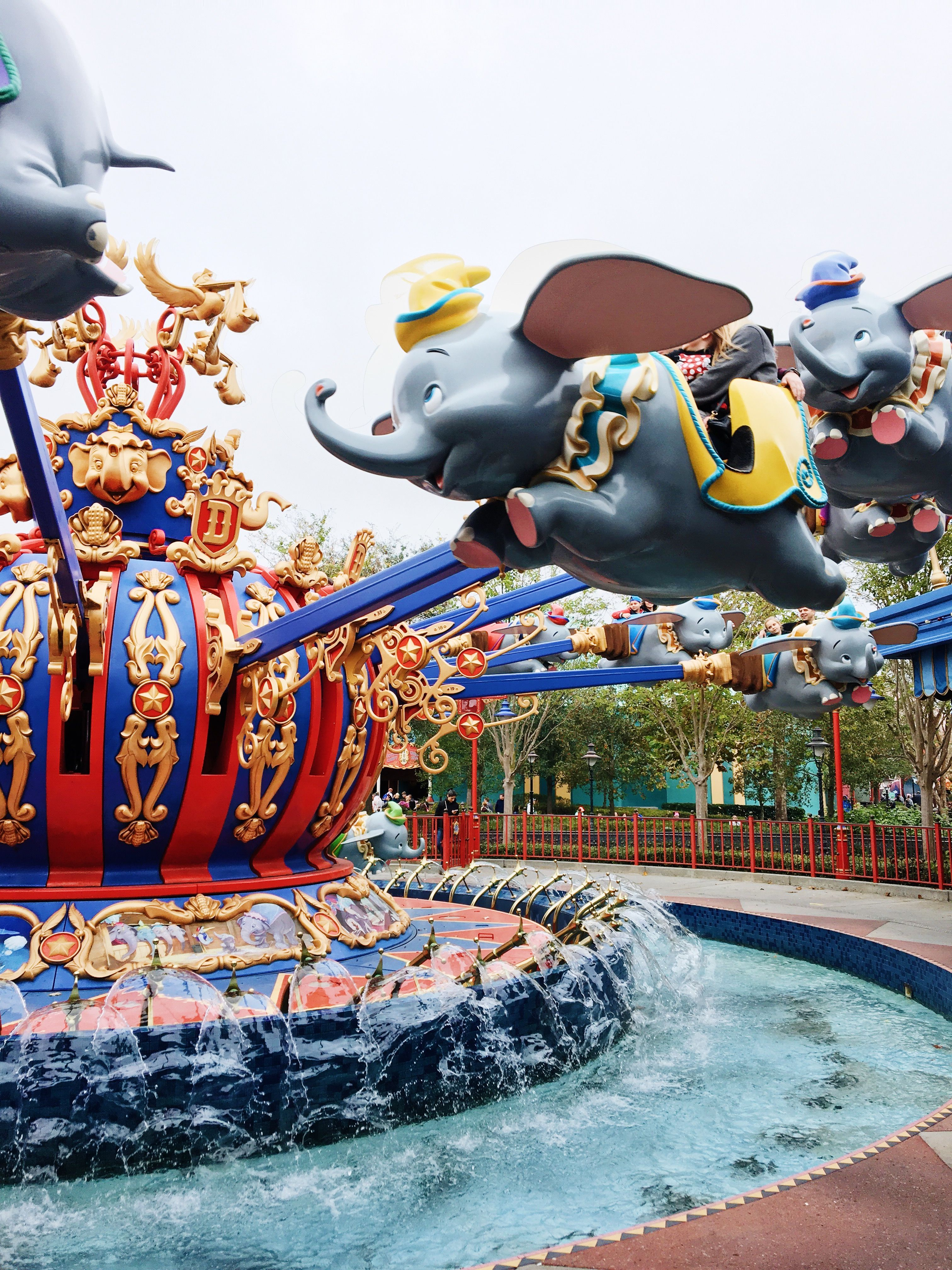 540c77b3ca The Dumbo ride- I love riding this because I feel like I'm flying and I  love the view around the ride also!!!