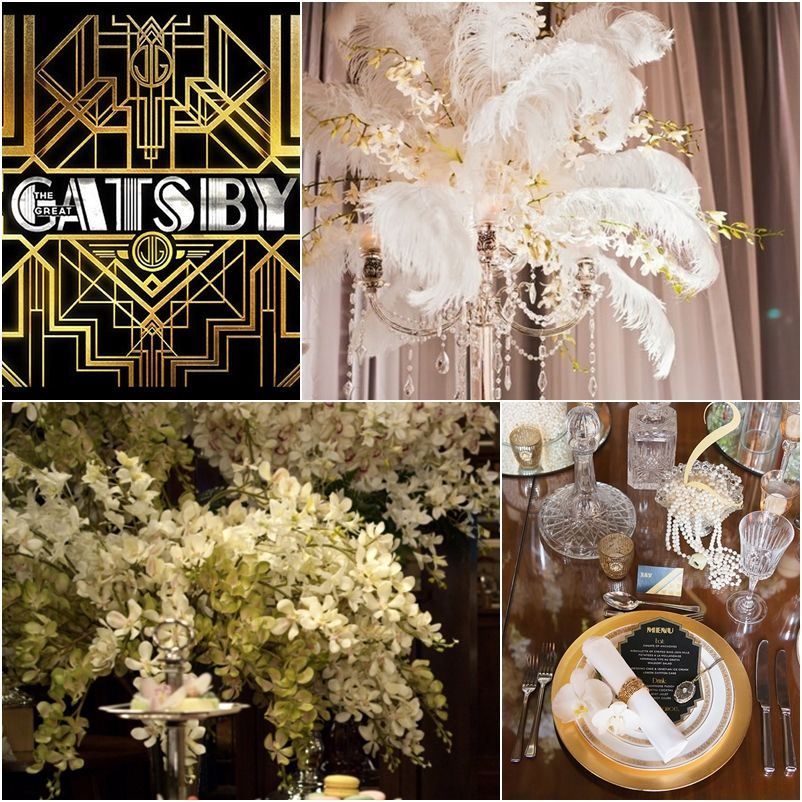 Great gatsby wedding ideas great gatsby decorations the for Art deco wedding decoration ideas