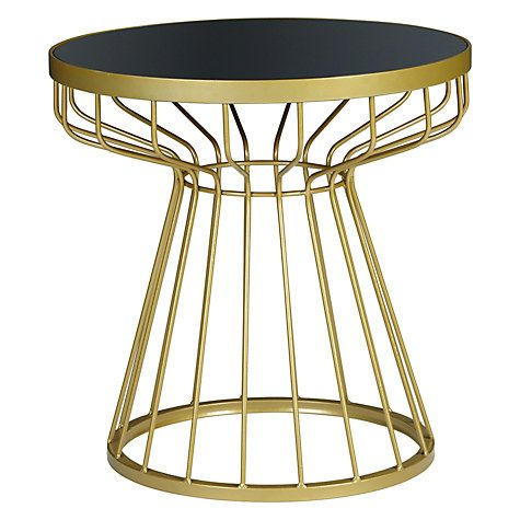 Buy John Lewis Dakara (Fusion) Havana Glass Top Side Table, Brass /