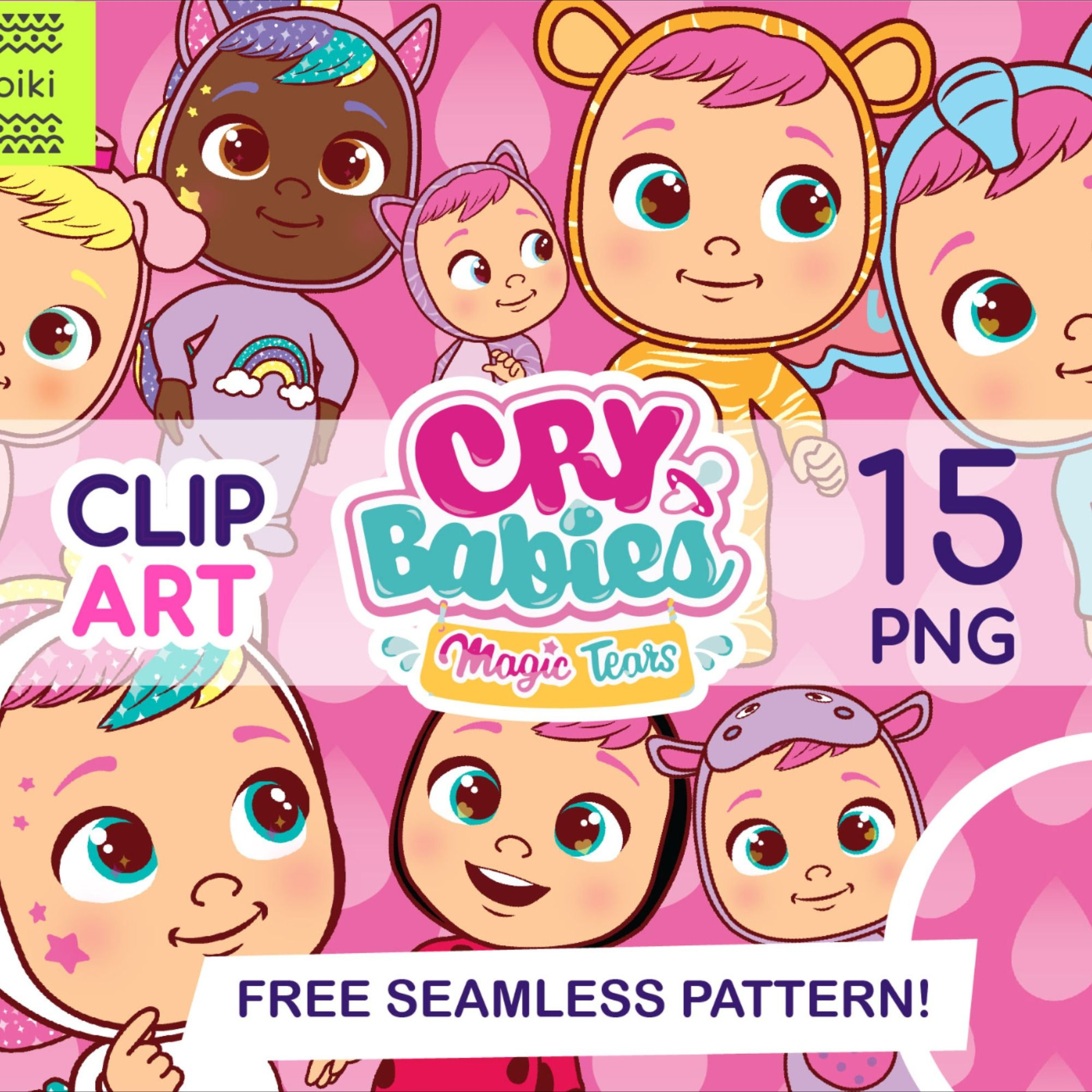 Instant Dowload Clipart Crybabies Clipart High Resolution Etsy In 2021 Clip Art Printing On Fabric Cry Baby