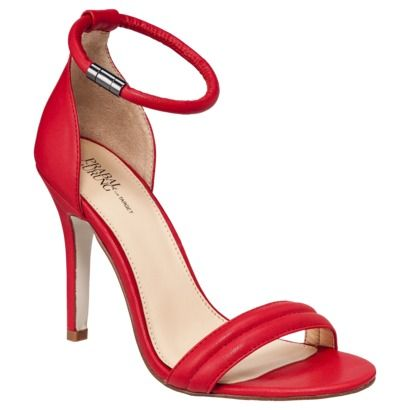 #PrabalForTarget // Prabal Gurung for Target Red Ankle Strap Heels $40 //  Beautiful