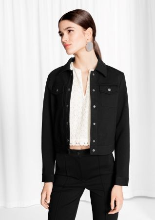 & Other Stories | Cropped Buttoned Jacket