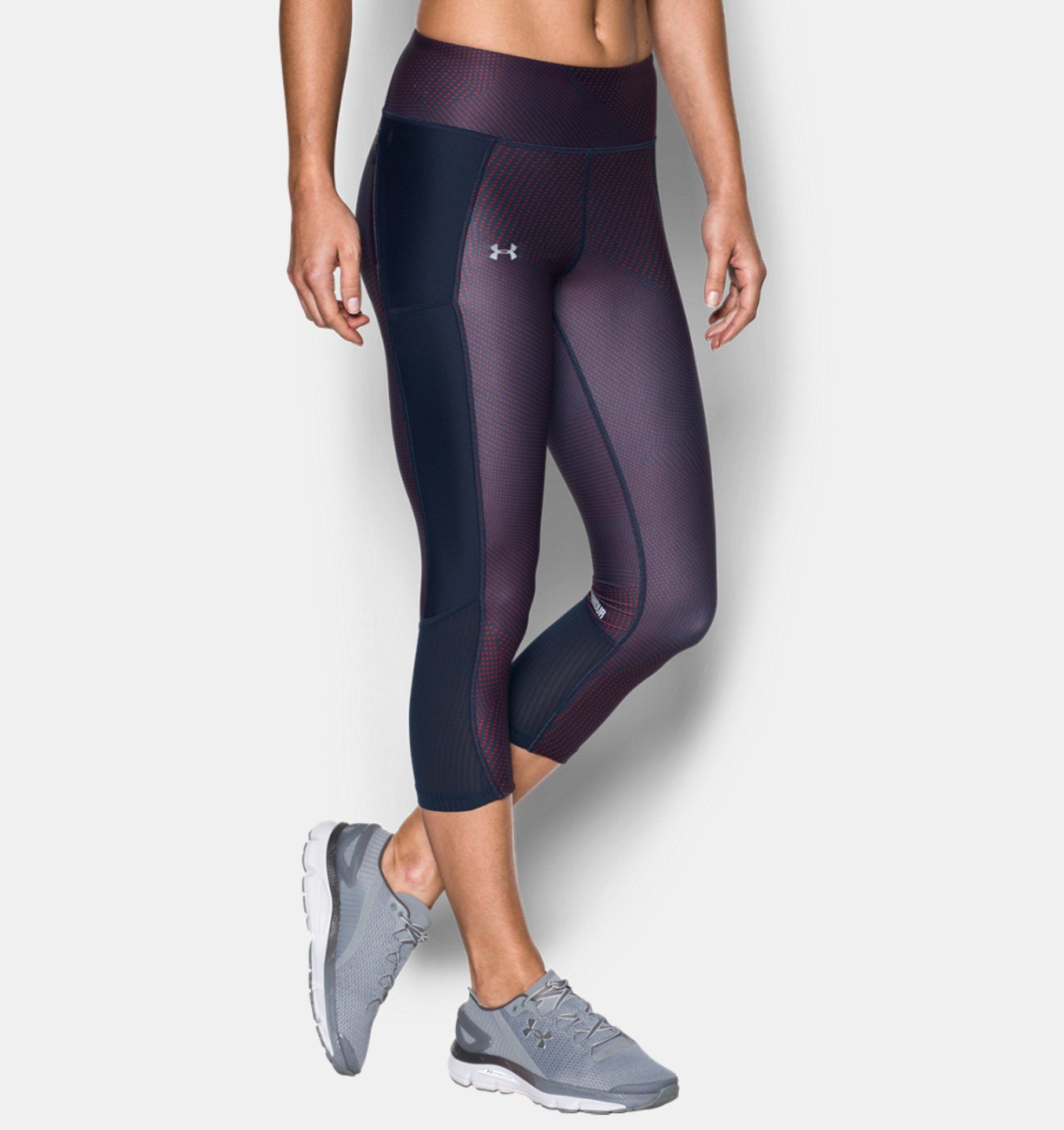 d59517adefb24 Women's UA Fly-By Printed Capris | Under Armour MY | v//w | Capri ...