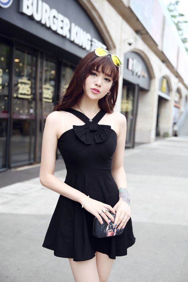 Buy Sexy Black Women Halter Dress Korean Style Honey Girls -7690