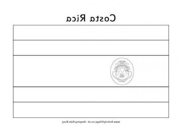 The Best Costa Rica Flag Coloring Page Http Coloring Alifiah