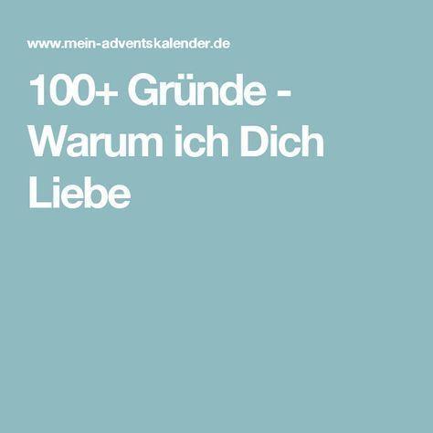100+ Gründe - Warum ich Dich Liebe #adventskalendermann
