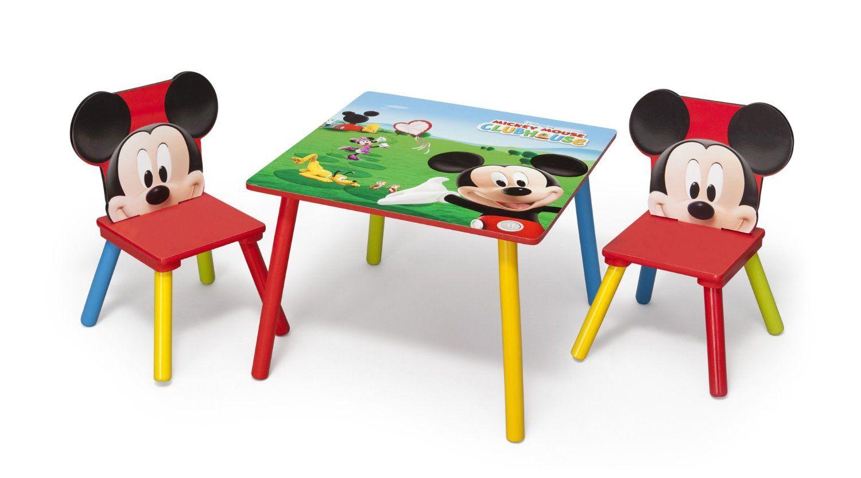 Minnie Mouse Set de Mesa y Sillas | Mueles De Madera De