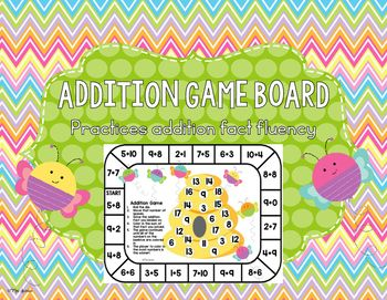 This unique addition game boards is a fun, hands-on activity that engages students as they practice addition fact fluency. My students love this game!This game can easily be used in small group instruction, math centers, whole class activity, as a supplemental to your math curriculum, as a fast finisher activity, or to differentiate your instruction.