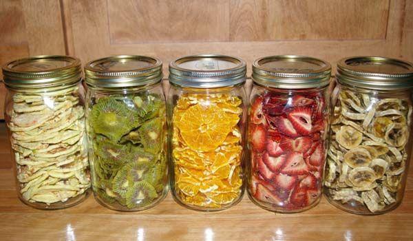 Zdravé domáce sušené ovocie