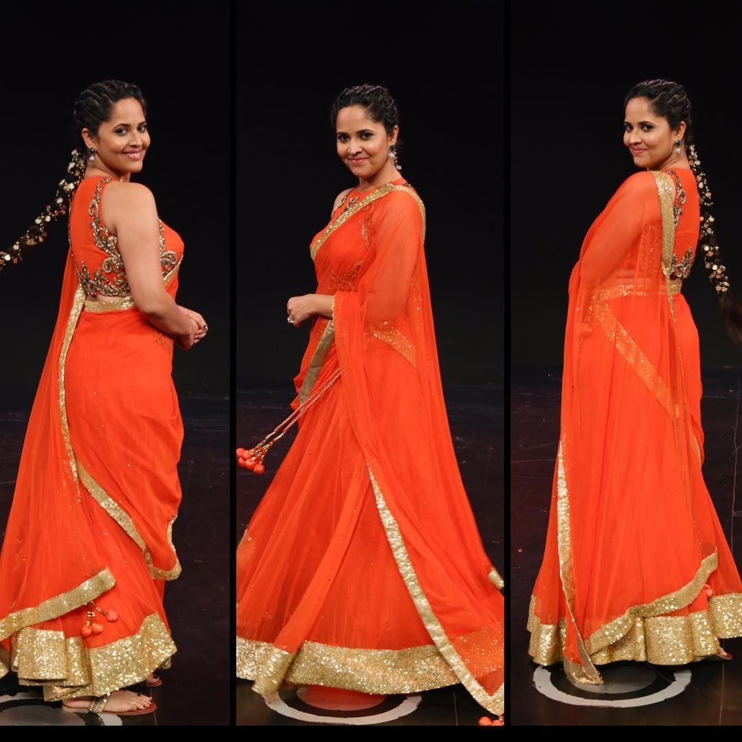 Actress Anasuya Bharadwaj Latest Photoshoot Pics Saree