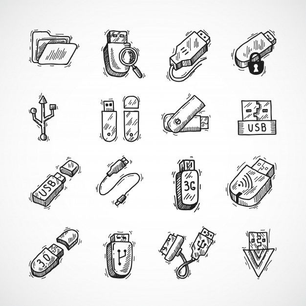 download usb icons set for free in 2020