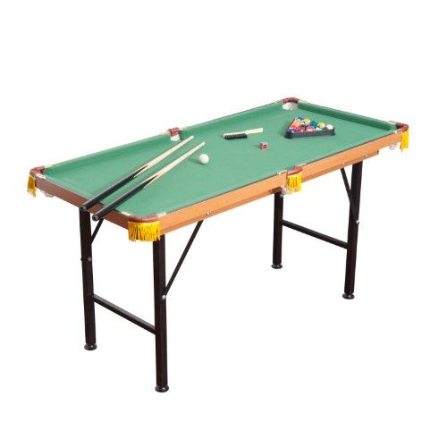 Soozier 55 Portable Folding Billiards Table Game Pool Table For Kids Adults With Cues Ball Rack Brush Chalk With Images Mini Pool Table Pool Table Billiard Pool Table