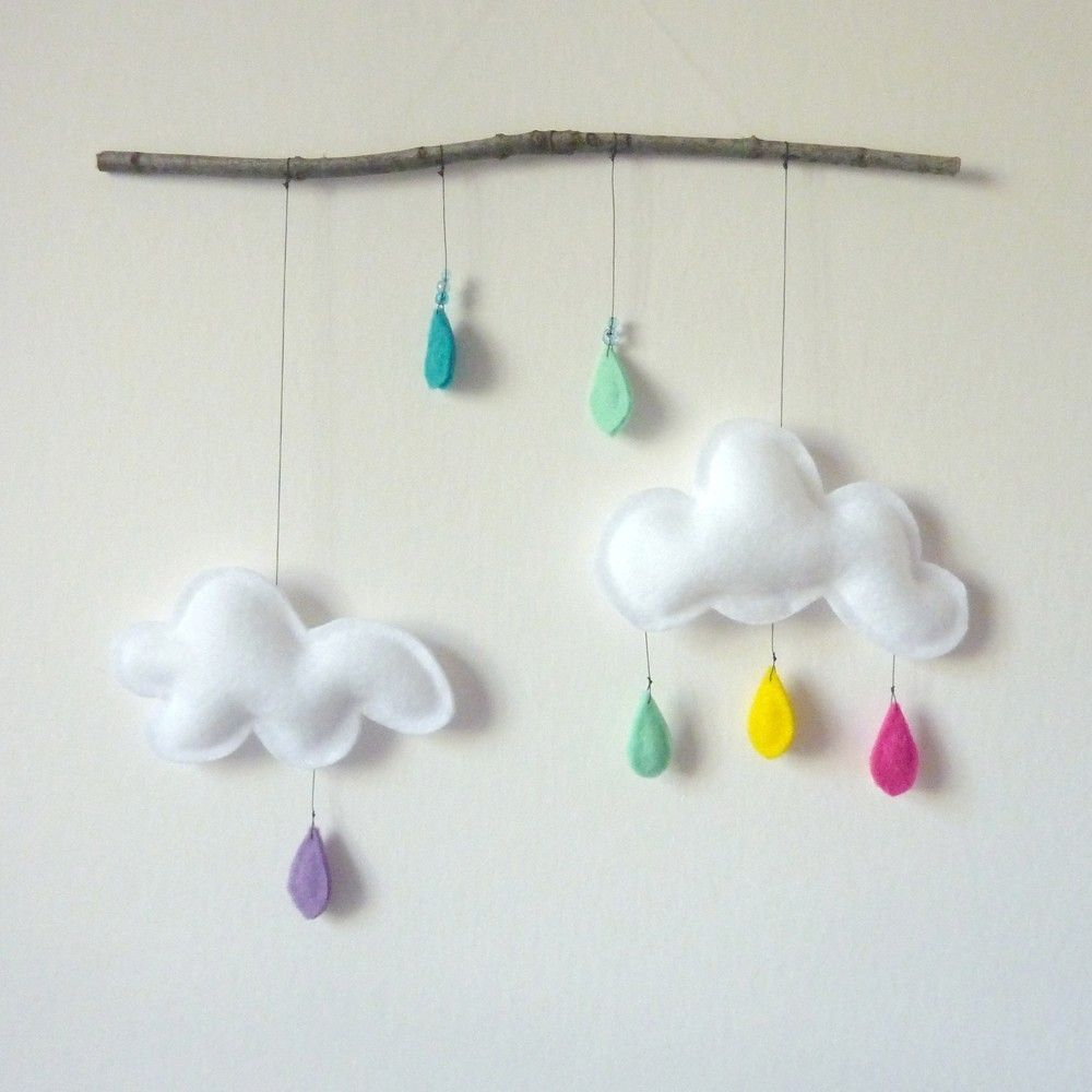 Küchendesign-logo cloud mobile on branchspring rainy clouds  baby mobiles rain