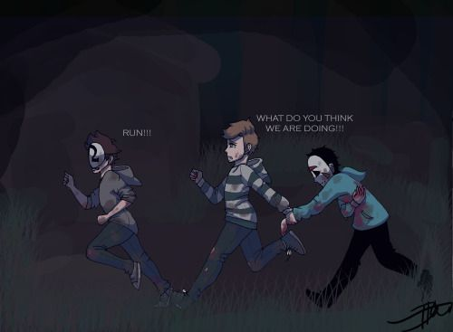 king-draws: I love it when they play dead by daylight