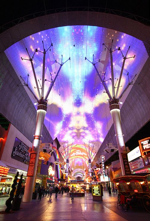 The Fremont Street Experience Light Show. Every Hour From