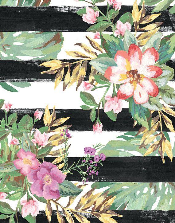 Tropical Flower Art Flower Painting Pop Art by shelbydillon