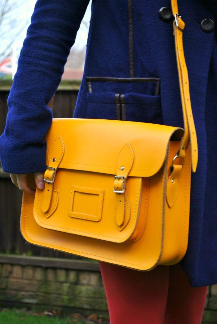 afac724ae4 Cambridge Satchel Company Satchel in Yellow   Cosas que comprar   Cartable  cuir, Sac mode, Sacoche cuir