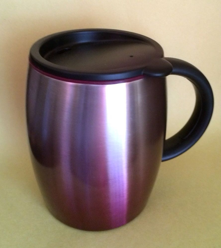 2014 starbucks purple travel mug stainless steel desktop mug